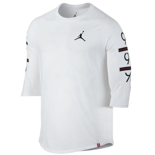 Другие товары JordanЛонгслив Air Jordan 6 Times Raglan T-ShirtСпортивная толстовка Jordan Brand, 78% хлопок, 22% полиэстер<br><br>Цвет: Белый<br>Выберите размер US: M|L