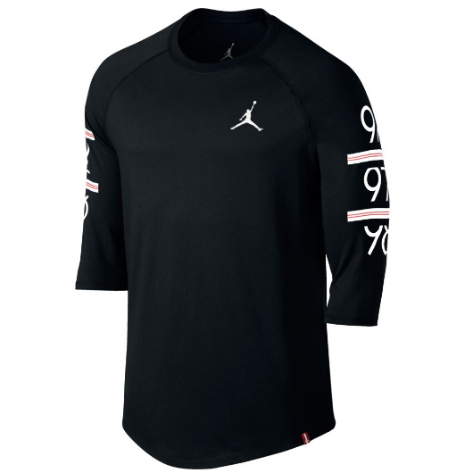 Другие товары JordanЛонгслив Air Jordan 6 Times Raglan T-ShirtСпортивная толстовка Jordan Brand, 78% хлопок, 22% полиэстер<br><br>Цвет: Чёрный<br>Выберите размер US: XL