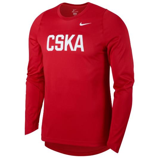 Другие товары NikeЛонгслив Nike CSKA Moscow Elite Top LSТолстовка Nike с капюшоном, 100% полиэстер, машинная стирка возможна.<br><br>Цвет: Красный<br>Выберите размер US: S|M|L|2XL