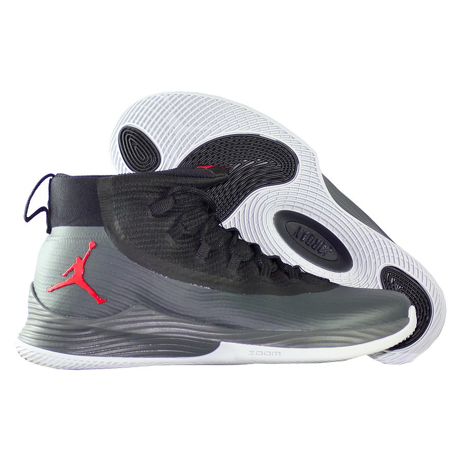 Кроссовки JordanКроссовки баскетбольные Air Jordan Ultra.Fly 2 quot;Cementquot;<br><br>Цвет: Чёрный<br>Выберите размер US: 8|9|10|11|11,5|13