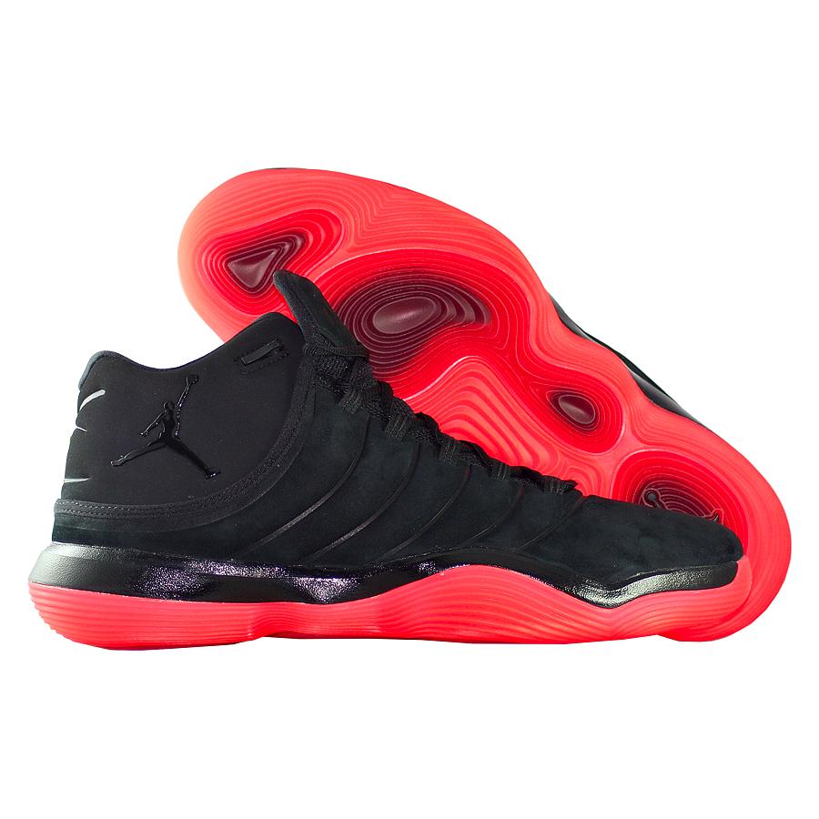 Кроссовки JordanКроссовки баскетбольные Air Jordan Super.Fly 2017 quot;Infraredquot;<br><br>Цвет: Чёрный<br>Выберите размер US: 11,5|10