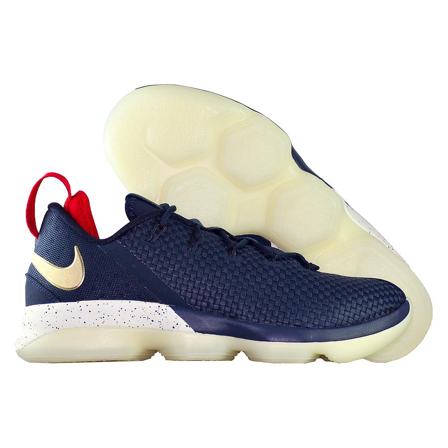 Кроссовки NikeКроссовки баскетбольные Nike LeBron 14 (XIV) Low quot;USAquot;<br><br>Цвет: Синий<br>Выберите размер US: 10,5