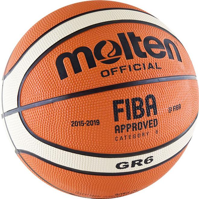 Другие товары MoltenБаскетбольный мяч Molten BGR6-OI размер 6<br><br>Цвет: Оранжевый<br>Выберите размер US: 6