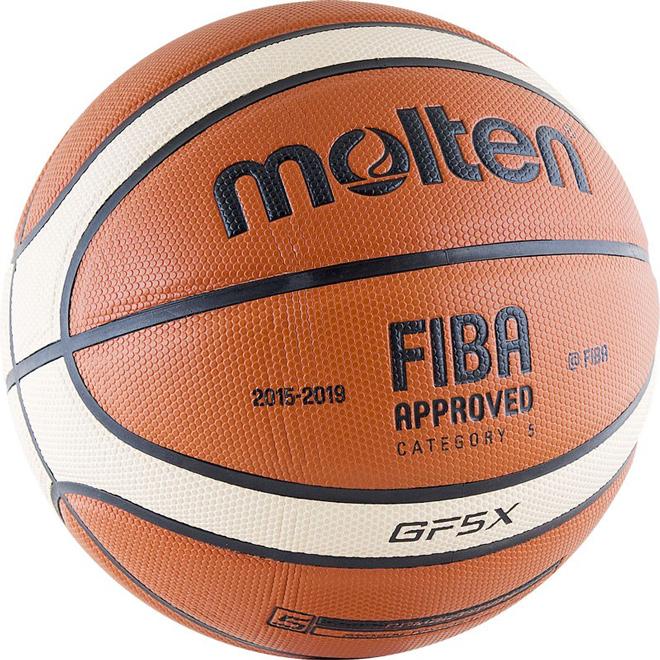 Другие товары MoltenБаскетбольный мяч Molten BGF5X-RFB размер 5<br><br>Цвет: Оранжевый<br>Выберите размер US: 5