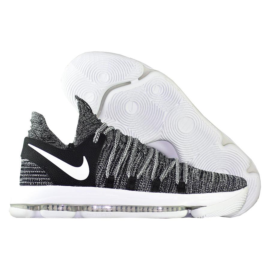 Кроссовки NikeКроссовки баскетбольные Nike Zoom KD 10 quot;Oreoquot;Мужские баскетбольные кроссовки Nike Zoom KD 9 с инновационной системой амортизации обеспечивают непревзойденную упругость и контроль, необходимые для универсальной игры.<br><br>Цвет: Чёрный<br>Выберите размер US: 9,5|11