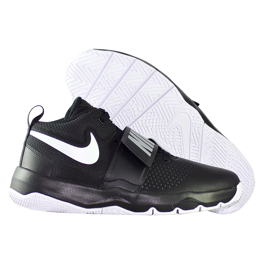 Кроссовки NikeКроссовки баскетбольные детские Nike Team Hustle D 8 GS<br><br>Цвет: Чёрный<br>Выберите размер US: 5Y|7