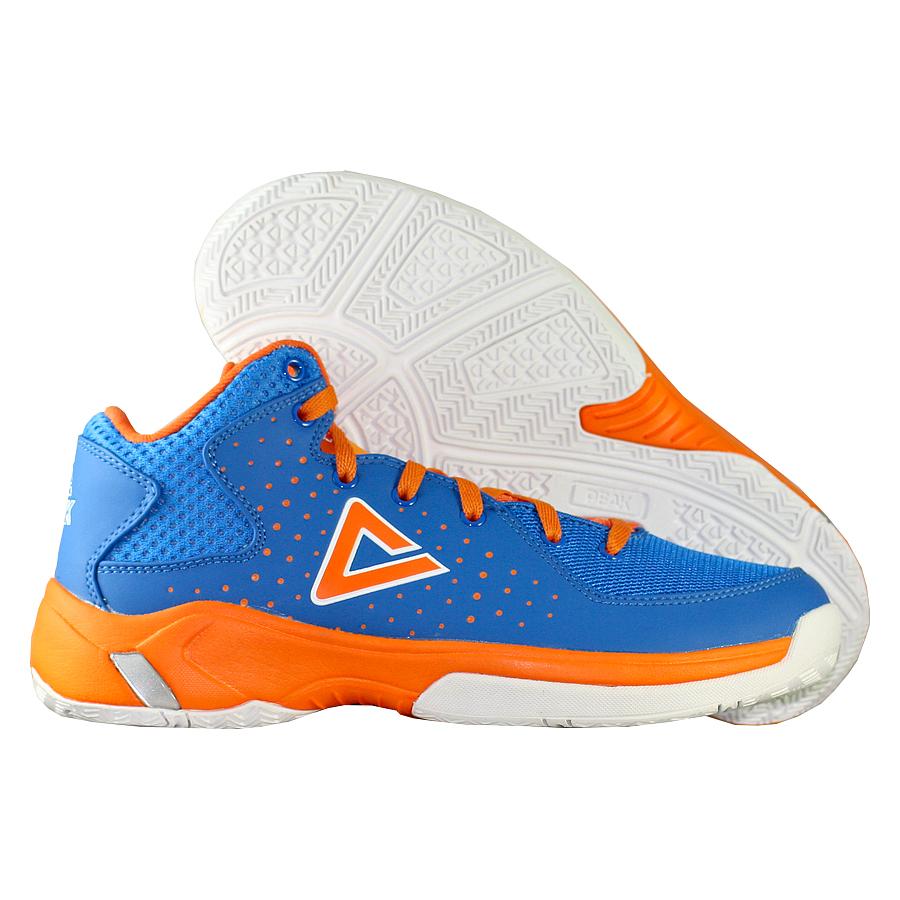 Кроссовки PEAKКроссовки баскетбольные детские PEAK Thunder GS<br><br>Цвет: Синий<br>Выберите размер US: 3.5Y|7