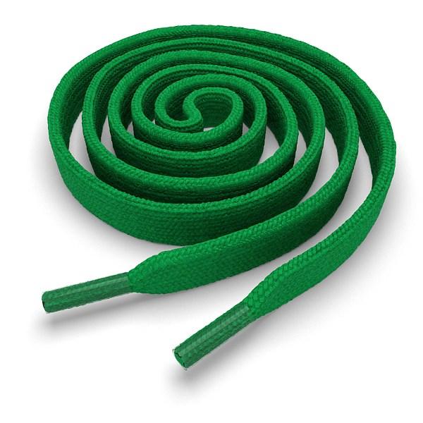 Другие товары Kickz4U.ruШнурки плоские зелёные 100 см<br><br>Цвет: Зелёный<br>Выберите размер US: 1SIZE
