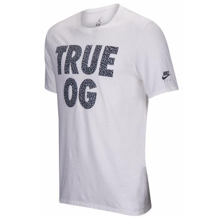 Другие товары JordanФутболка Air Jordan 3 quot;True OGquot; T-ShirtФутболка Jordan Brand. Материал 100% хлопок<br><br>Цвет: Белый<br>Выберите размер US: L|XL