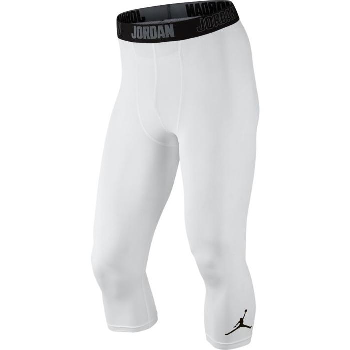 Другие товары JordanКороткие компрессионные брюки Air Jordan 23 Alpha Dry 3/4 Tight<br><br>Цвет: Белый<br>Выберите размер US: XL