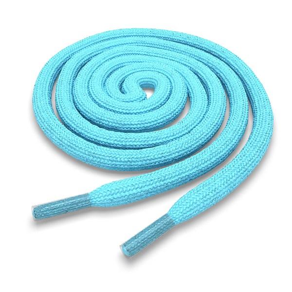 Шнурки круглые голубые 200 см фото