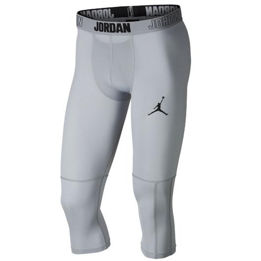 Другие товары JordanКороткие компрессионные брюки Air Jordan Dry 23 Alpha 3/4 Training Tights<br><br>Цвет: Серый<br>Выберите размер US: S|M|L