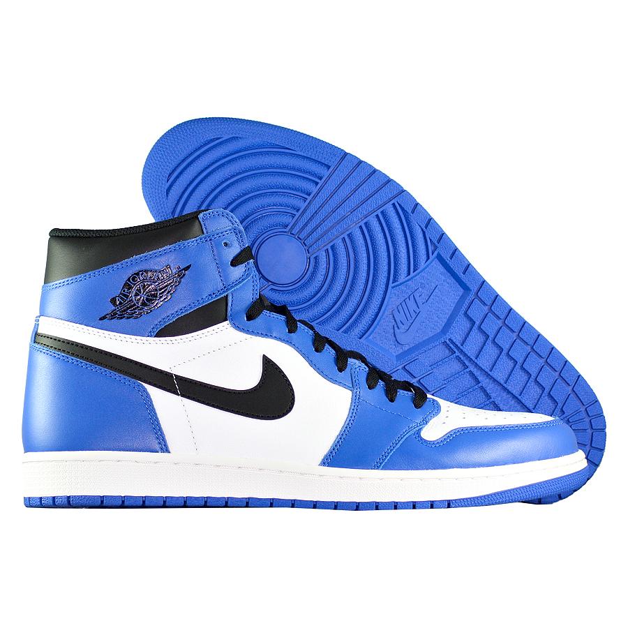 Кроссовки JordanКроссовки баскетбольные Air Jordan 1 Retro High OG quot;Game Royalquot;<br><br>Цвет: Синий<br>Выберите размер US: 15