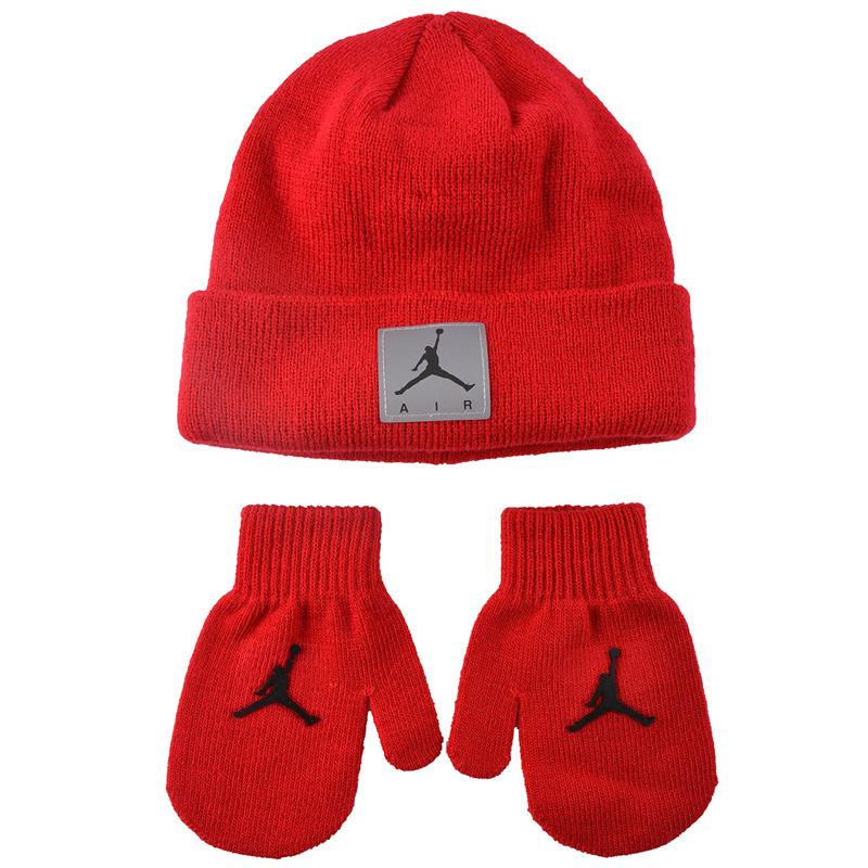 Купить Другие товары Jordan, Детский комплект - шапка и варежки Air Jordan Reflect Infant Set, Красный