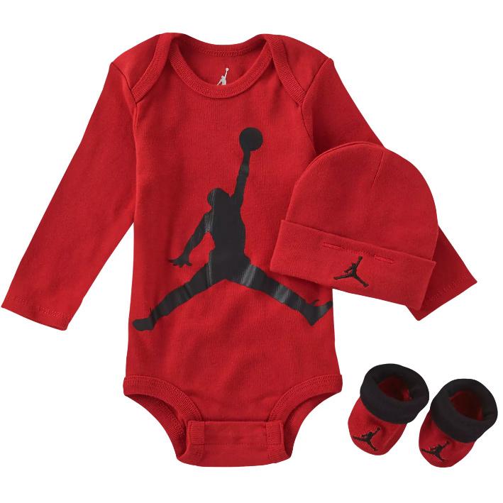 Детский комплект - боди, пинетки и шапочка Air Jordan Jumpman Three-Piece Set