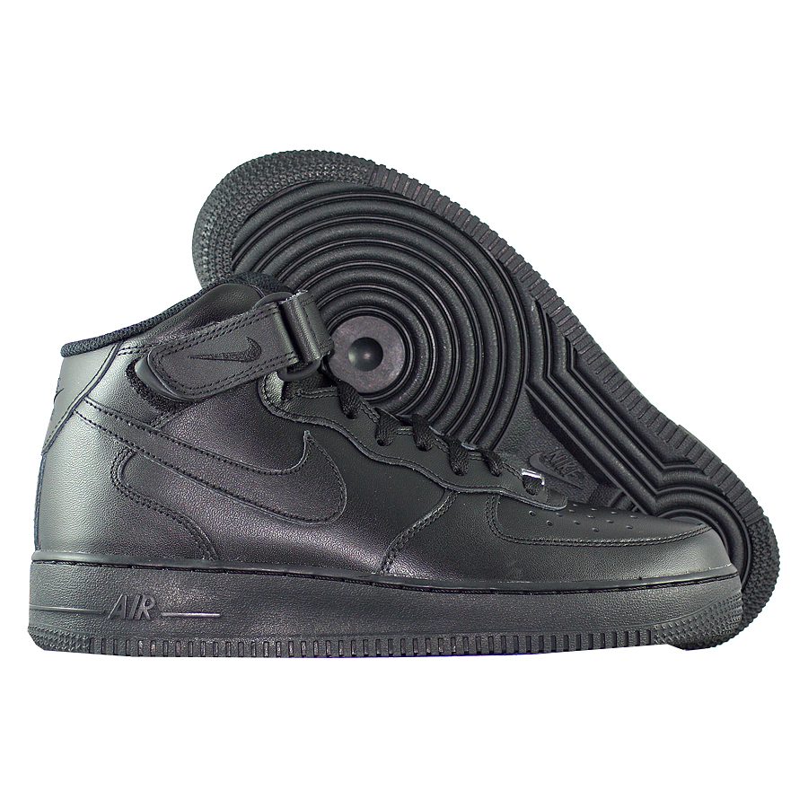 "Кроссовки Nike Air Force 1 Mid '07 ""Blackout"" фото"
