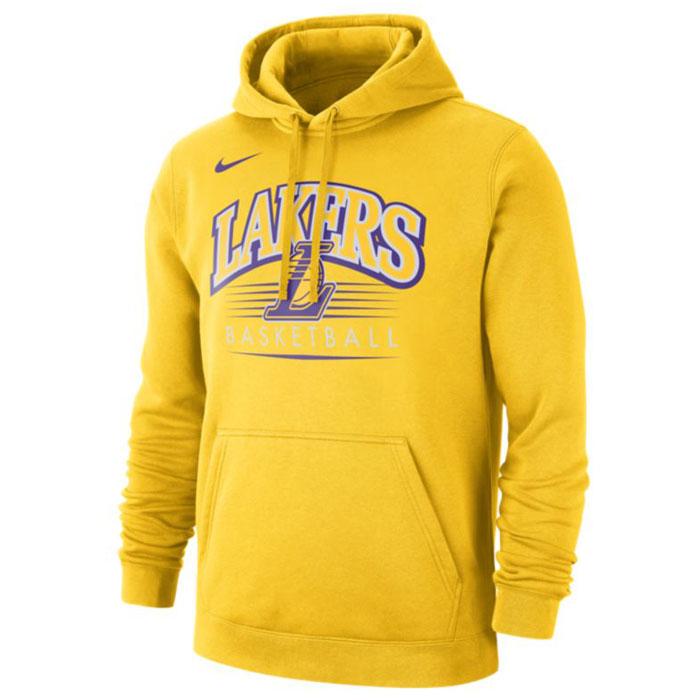 Купить Другие товары Nike, Худи Nike NBA Los Angeles Lakers Hoodie, Жёлтый