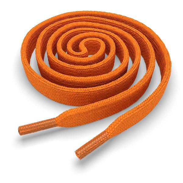 Шнурки плоские оранжевые 140 см фото