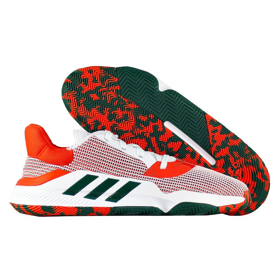 Купить Другие товары adidas, Баскетбольные кроссовки adidas Pro Bounce 2019 Low Miami Hurricanes , Белый