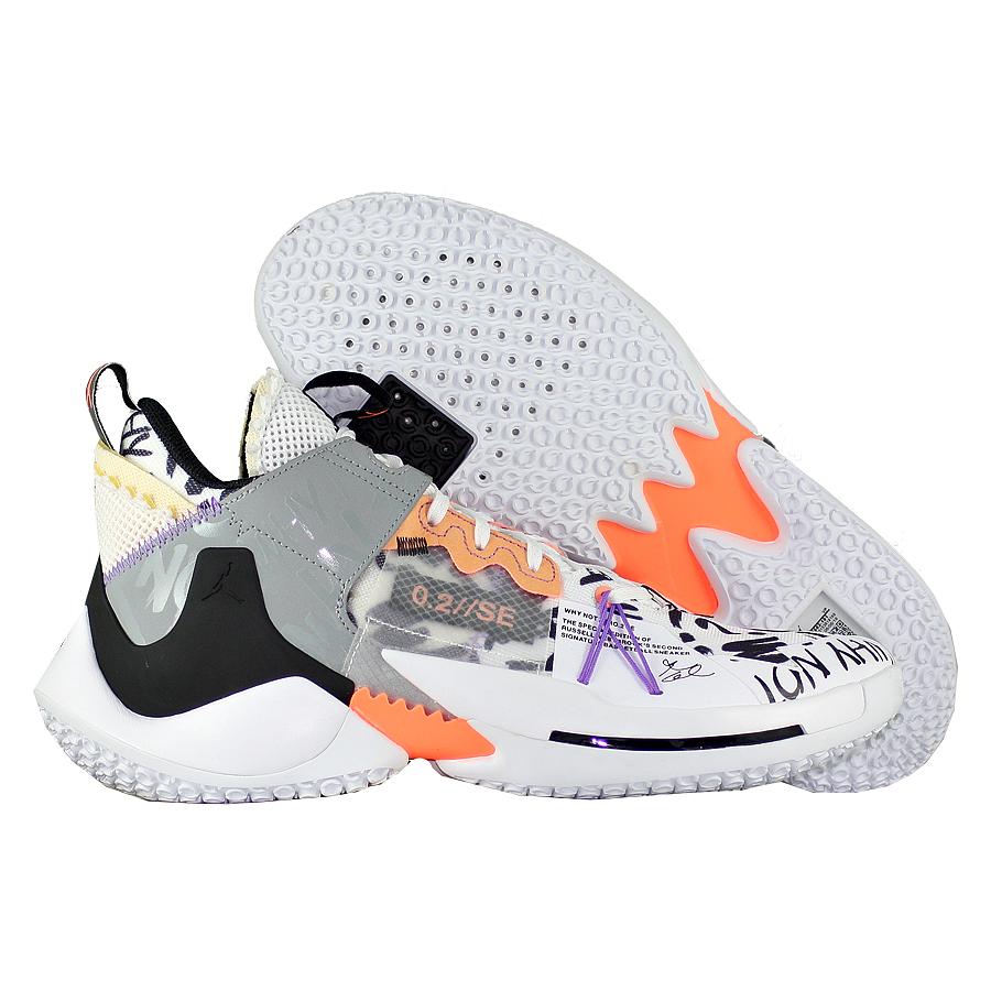 """Баскетбольные кроссовки Air Jordan Why Not Zer0.2 SE """"Orange Pulse"""" фото"""