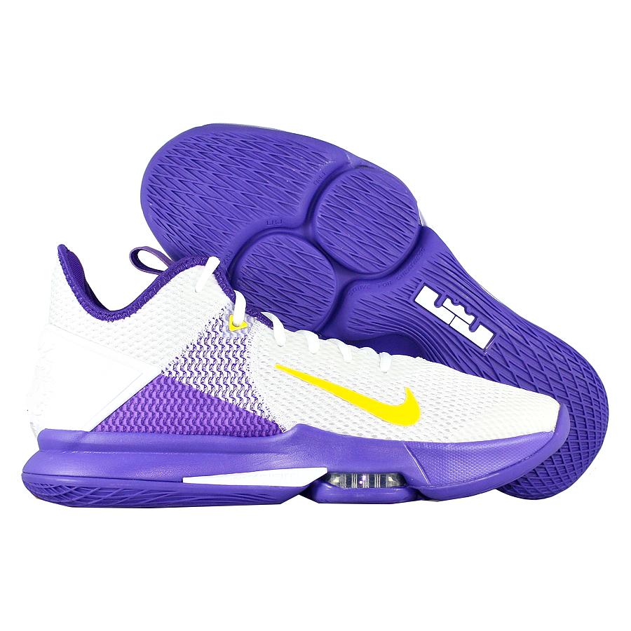 "Баскетбольные кроссовки Nike LeBron Witness 4 ""Lakers"" фото"