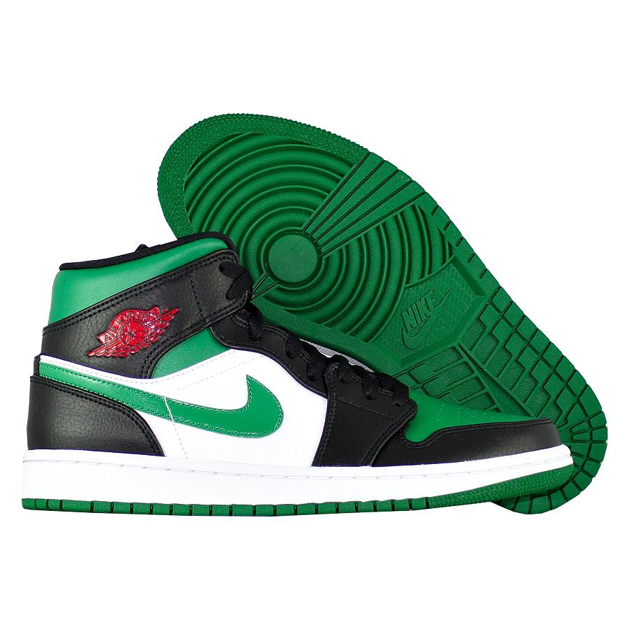 """Кроссовки Air Jordan 1 Mid """"Green Toe"""" фото"""
