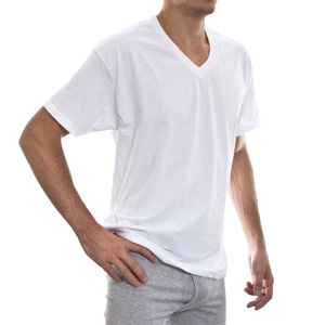 Другие товары HanesФутболка Hanes V-Neck (4 шт)<br><br>Цвет: Белый<br>Выберите размер US: S