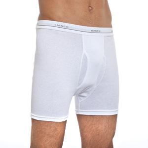 Другие товары HanesТрусы Hanes Boxer Briefs (4 шт)<br><br>Цвет: Белый<br>Выберите размер US: S|XL