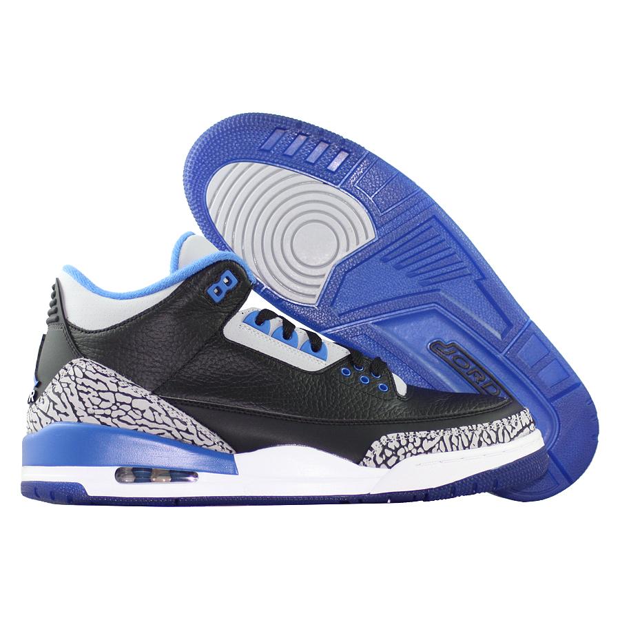 ... Купить Кроссовки баскетбольные Air Jordan III (3) Retro Sport Blue-1 ... ae7c3ce5422