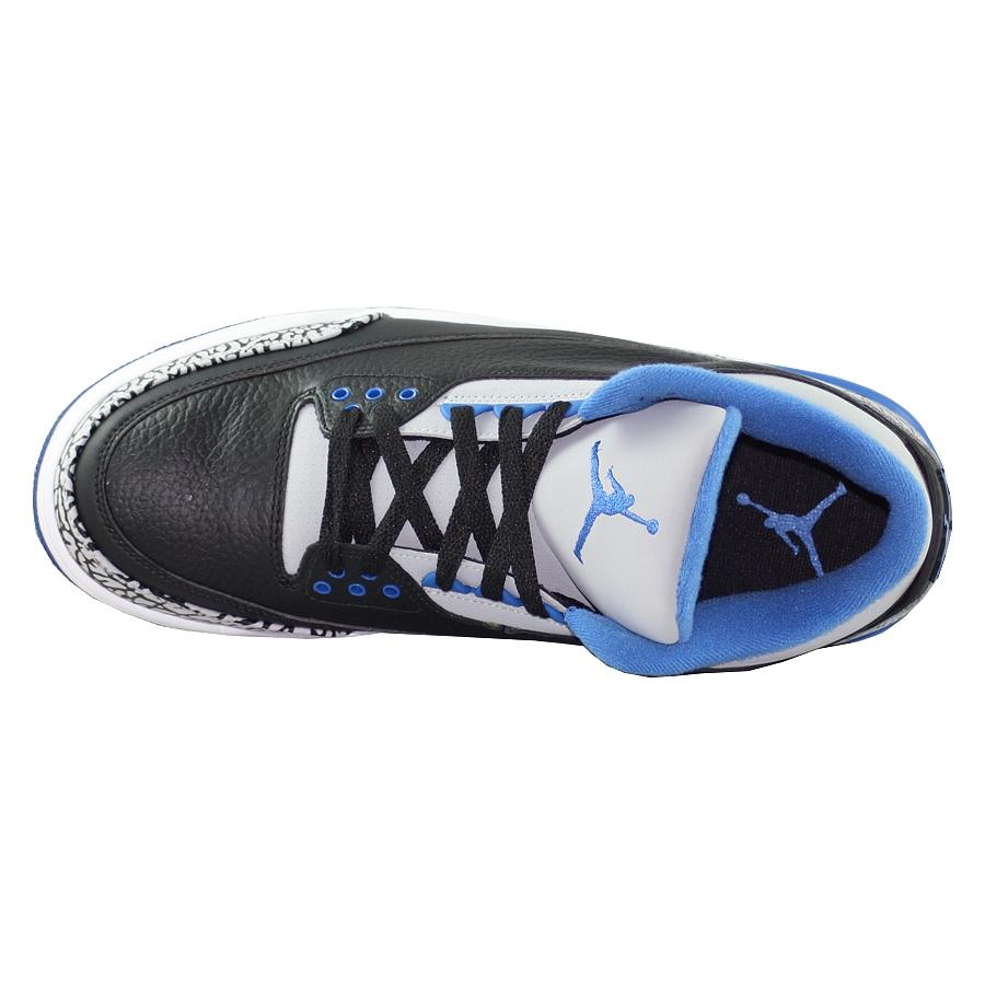 ... Купить Кроссовки баскетбольные Air Jordan III (3) Retro Sport Blue-4 ... bebc1dc6fa1