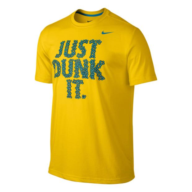 Другие товары NikeФутболка Nike Just Dunk It All Balls Tee<br><br>Цвет: Жёлтый<br>Выберите размер US: M