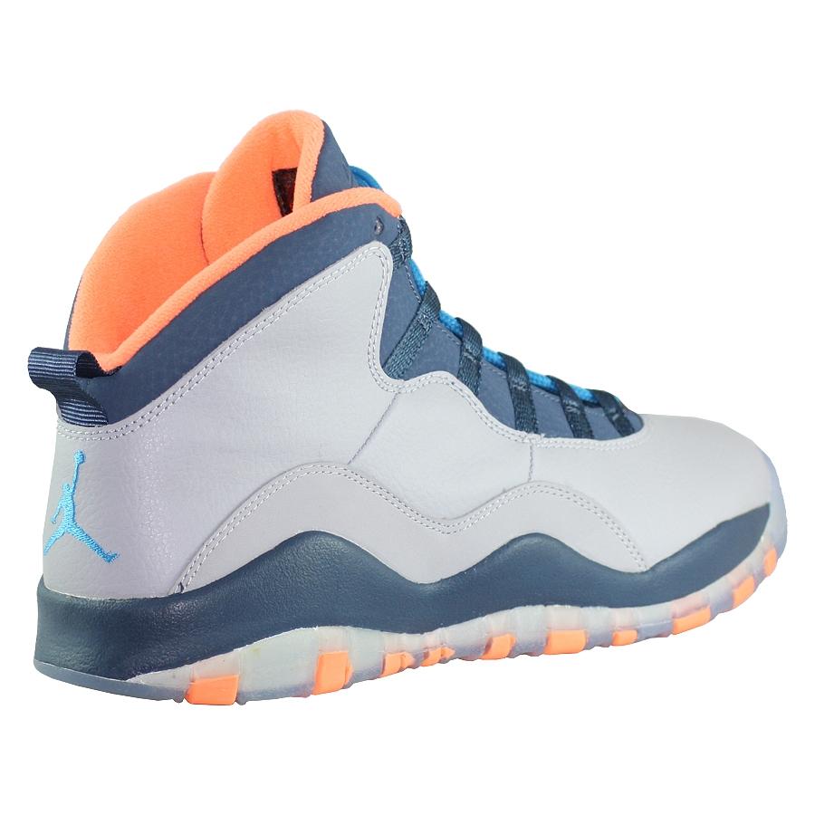 ... Купить Кроссовки баскетбольные детские Jordan X (10) Retro GS Bobcats-3  ... 40631248136