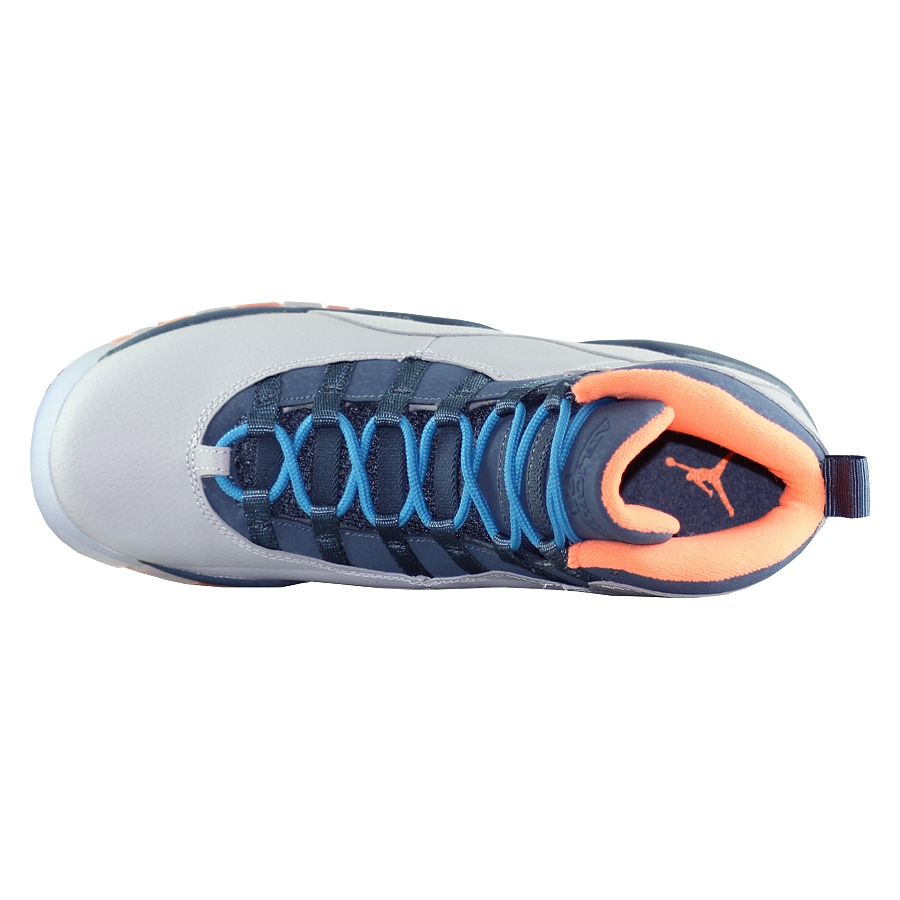 ... Купить Кроссовки баскетбольные детские Jordan X (10) Retro GS Bobcats-4  ... 67a2075ce0f