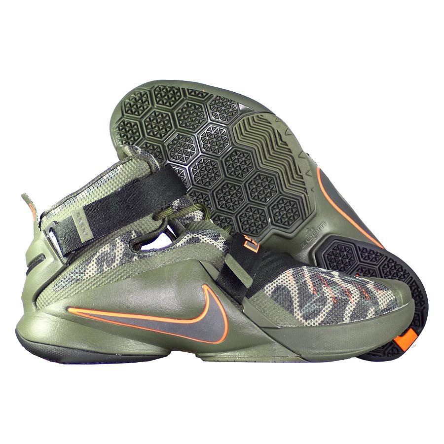 0cf5ba2e4 ... Купить Кроссовки баскетбольные Nike LeBron Soldier IX PRM Cargo Khaki-1  ...
